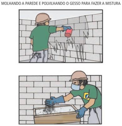 Preparando a parede para receber o gesso