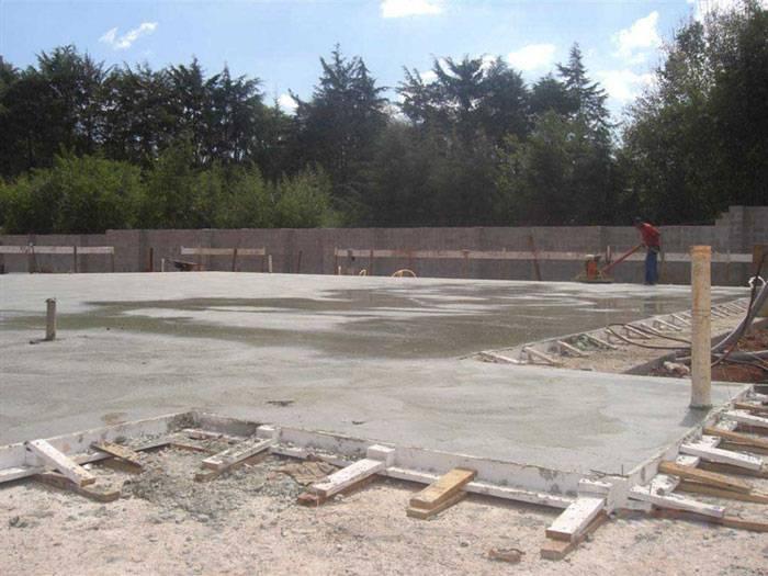 Radier de concreto armado