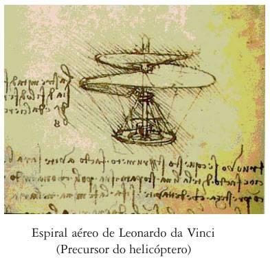 Espiral aéreo de Leonardo da Vinci (Precursor do helicóptero)